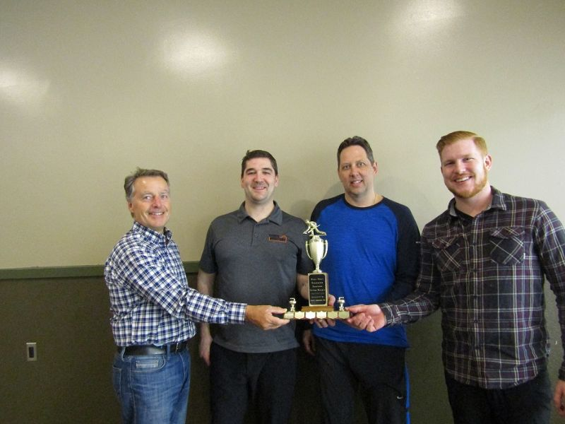 Winning Team (left to right) - David Thorpe, Jon Boutin, Blair Nakoneshny & Brady Guimond